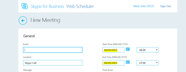 Skype for Business     Change Web Scheduler Date Format to UK     UC Now Thoughts From a Bot Named Flinch