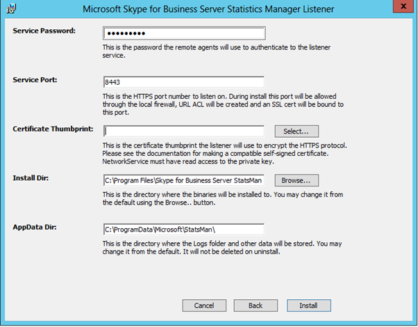 Skype for Business – Statistics Manager (Installation Guide) – UC Now